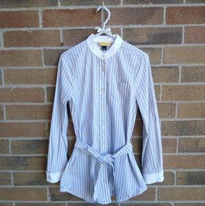 St. John Tops - St. John Stripe Button Down Tunic